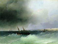 Odessa, ship , Aivazovsky