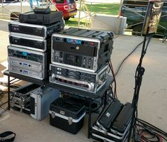 Here's a shot of the amp rack at Two Rivers Carp Festival. Two Rivers, Carp, Technology, Tecnologia, Tech, Common Carp, Engineering