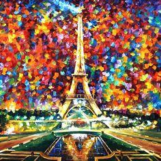 Beautiful, colorful Eiffel Tower print (Leonid Afremov)