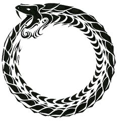 The Ouroboros or is an ancient symbol depicting a serpent or dragon eating its own tail. Fenrir Tattoo, Valkyrie Tattoo, Ouroboros Tattoo, Norse Tattoo, Celtic Tattoos, Viking Tattoos For Men, Yggdrasil Tattoo, Viking Tattoo Symbol, Celtic Symbols