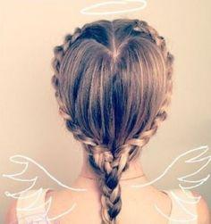 peinado de trenza de corazon bonito