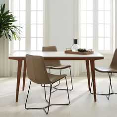 Modern Expandable Dining Table | west elm $700. Those are my favorite chairs, but in a different color. Maybe?