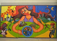 UM-Flint's ART 366 Students Create Murals for the Flint Community ...