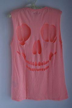 Skull Cut Out Tee Shirt