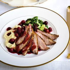 Pan-fried duck breast with spiced orange and cranberry sauce from 'Christmas with Gordon Ramsay'