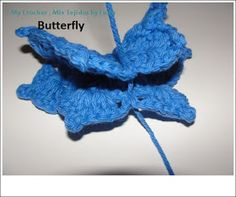 My Crochet , Mis Tejidos by Luna: Granny square with a Butterfly for the Sibol Group and the Tutorial.