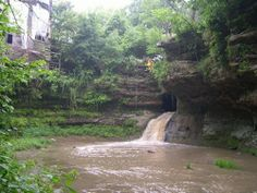 rock mill lancaster ohio | creek waterfall. And just above all this is the Rock Bridge grist Mill ...