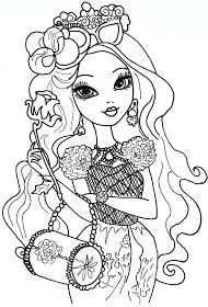 Free Printable Ever After High Coloring Pages: Briar Beauty Ever After High Coloring Sheet