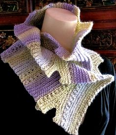 Notch: Slip Stitch Crochet Scarf downloadable pattern.