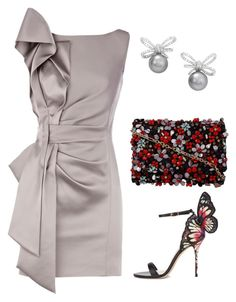 """Grey Night"" by taniaisabel-1 on Polyvore featuring Sophia Webster and Oscar de la Renta"