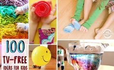 100 Ways To Keep Your Kids Away From The Couch! TV Free Activities!