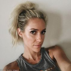 Fourth of July fun: The posted a less-awkward photo on the Fourth of July, sho. Awkward Photos, Kristin Cavallari, New Instagram, Ponytail Hairstyles, Cool Girl, Hair Makeup, Sexy Women, Poses, Hair Styles