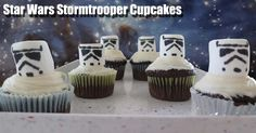 With the anticipation about the new Star Wars film eminent, we thought that we should make some Star Wars themed cupcakes to satiate our desire for all things Star Wars.