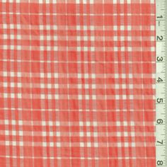 Orange Plaid Burnout Shirting - Fabric By The Yard