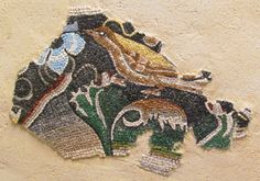Bird. Mosaic copy of Hellenistic period from Delos Greece.  mosaic from  Eftychia Finou