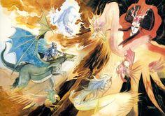 Romancing Saga Illustrations by Tomomi Kobayashi (Mina Hwang)