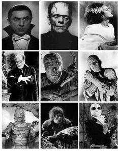 Nine Universal Monsters