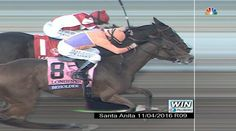 The finish of the 2016 Distaff. Beholder noses out Songbird in a race for the ages.