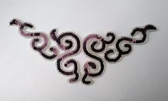 Burgundy and silver sequin and bead applique Sequin Appliques, Silver Sequin, Embellishments, Create Your Own, Burgundy, Sequins, Beads, Creative, Crafts