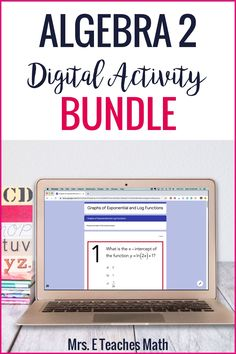 Algebra 2 Digital Activity Bundle for Distance Learning Common Core Algebra, Algebra 2, Calculus, Math Lesson Plans, Math Lessons, Math Classroom, Flipped Classroom, Classroom Ideas, Math Resources