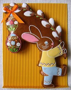 perchta Easter Cookies, Easter Treats, Fun Cookies, Hoppy Easter, Easter Bunny, Chocolates, Gingerbread Decorations, Gingerbread Cookies, Easter Religious