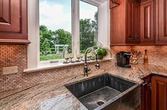 Red cabinets/small subway tile back.splash. Country Kitchen - Found on Zillow Digs