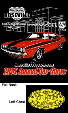 11th Annual All Mopar Car Show preview. See what our t-shirts look like and what to expect with the weather.