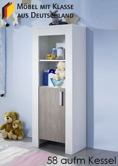 Epic Kinderzimmer Schrank Holz Wei Pinie Buy now at https