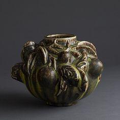 "Axel Johann Salto Axel Salto ""fruiting"" vase with solfatara glaze, 1940 Sally Rosen Century Collections Ceramic Pottery, Pottery Art, Ceramic Art, Glazed Ceramic, Potters Clay, Sculptures For Sale, Artwork Images, Ceramics Projects, Scandinavian Art"