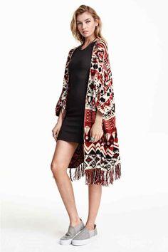 Poncho de malha jacquard | H&M