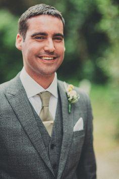 I like this dashing groom grey suit.  Perhaps something vintage and similar? http://alipaul.com/