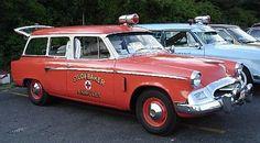 1955 Studebaker Commander wagon, Fire Chief car. Fire Dept, Fire Department, Ambulance, Old Trucks, Fire Trucks, Rescue Vehicles, Police Vehicles, Emergency Equipment, Fire Equipment
