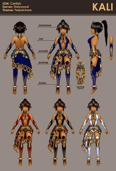 Dragon Nest - Kali costume by kureo95