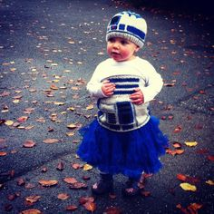 OMG ---- Knit R2-D2 with tu-tu. Over the top amazing.... Halloween plus just an amazing sweater/hat combo!