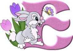 Alfabeto del conejito Tambor de Disney...E