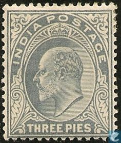 Stamps - India - King Edward VII 1902 King Edward Vii, Rare Stamps, Stamp Catalogue, King George, Postage Stamps, Vintage World Maps, Indie, Royalty, Tapestry
