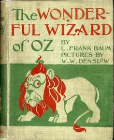 First Edition Book Cover for The Wonderful Wizard of Oz