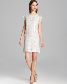 Trina Turk Dress - Clara Cap Sleeve Summertime Lace | Bloomingdale's