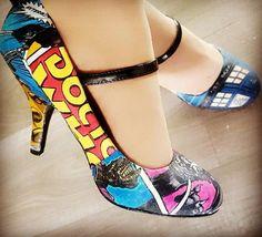 These were my wedding shoes last weekend! I absolutely love them ��  #whovian #doctorwho #geek #bridalshoes #shoes #wedding #bryllup #KogTA #who #exterminate #tardis #pumps #daily @doctorwho_bbca #handmade #comic #comics #nerdy #fantastic #dalek #igwedding #bride #brud #maybride #maibrud #justmarried #love #mine #sko #brudesko #shoelove http://gelinshop.com/ipost/1525265341890377019/?code=BUq1L9LlzU7
