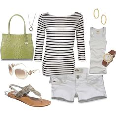 summer stripes, created by #kristafliss on #polyvore.