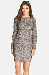 Adrianna PapellEmbellished Mesh Sheath Dress (Regular & Petite) available at Nordstrom.