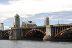 Longfellow Bridge connecting Boston and Cambridge over the Charles River