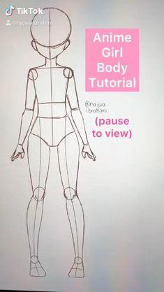 how to draw anime body (tutorial)
