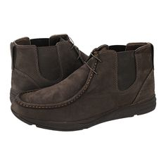 Lizines - GK Uomo Comfort Men's low boots made of nubuck with leather lining and synthetic outsole.  Available in color Black and Brown.