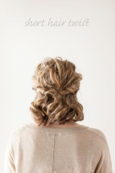 Short Hair Twist Tutorial ~  Just follow the few simple steps as we show you the way to achieving this gorgeous, romantic little half-up-do.  Tutorial/Pictorial @: http://garlandofgraceblog.com/short-hair-twist/#.UzGVYNGPL3g
