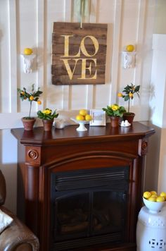 "Lemon Love Mantel - ""you are my sunshine"" is my favorite part. it's been a big love song in my family for generations."