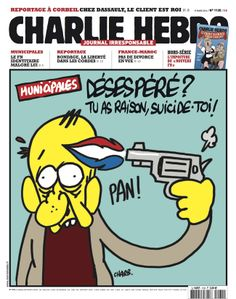 Charlie-Hebdo - http://www.charliehebdo.fr/images/couv2013/CH1135-01-w.jpg - semaine du 19 mars 2014 - Charb #désespéré #débile #suicide #FN