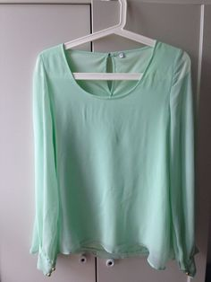 Pista Green beautiful soft top long sleeve size 10 bought but not worn it's new in Clothes, Shoes & Accessories, Women's Clothing, Tops & Shirts | eBay