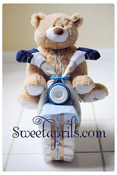 c20beec30eb Motorcycle Diaper Cake Tutorial I made one from Brandi s baby shower and it  came out really
