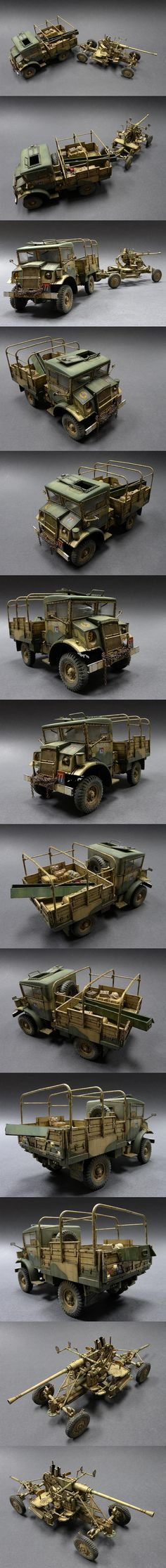 Chevrolet 15CWT & Bofors 40mm 1/35 Scale Model